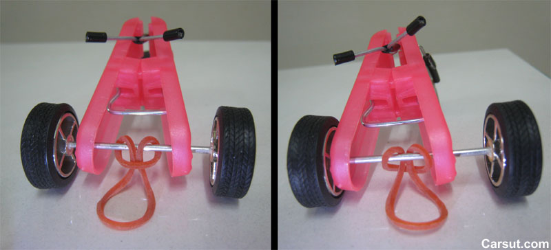 rubber band car instructions