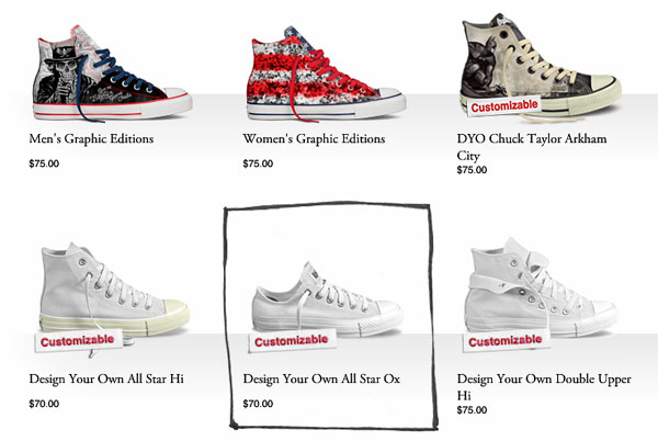 Saturar viudo frecuentemente  Design Your Own Converse in 5 Steps