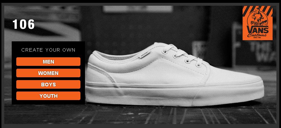 create vans sneakers